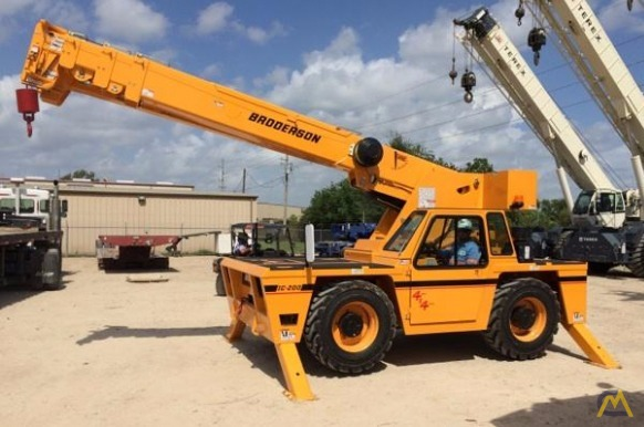 Broderson IC-200-J 15-ton Industrial Carry Deck Crane 0