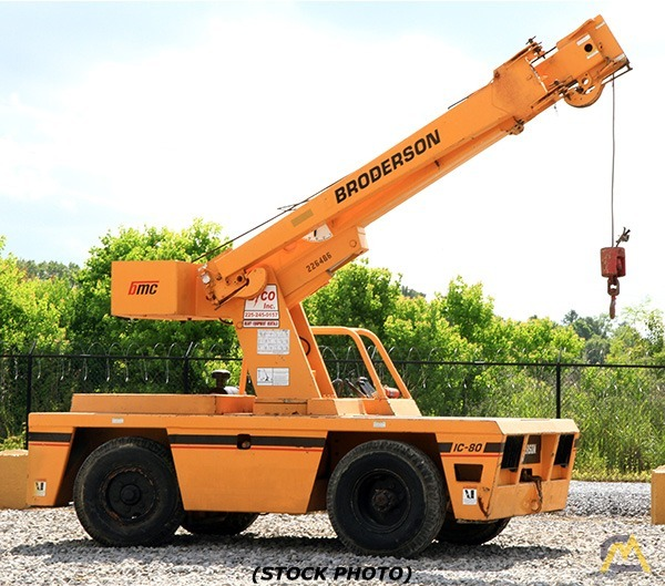 2004 Broderson IC-80-3G 9-Ton Carry Deck Crane  0