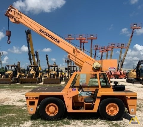 2000 Broderson IC-80-3F 9-Ton Carry Deck Crane  0