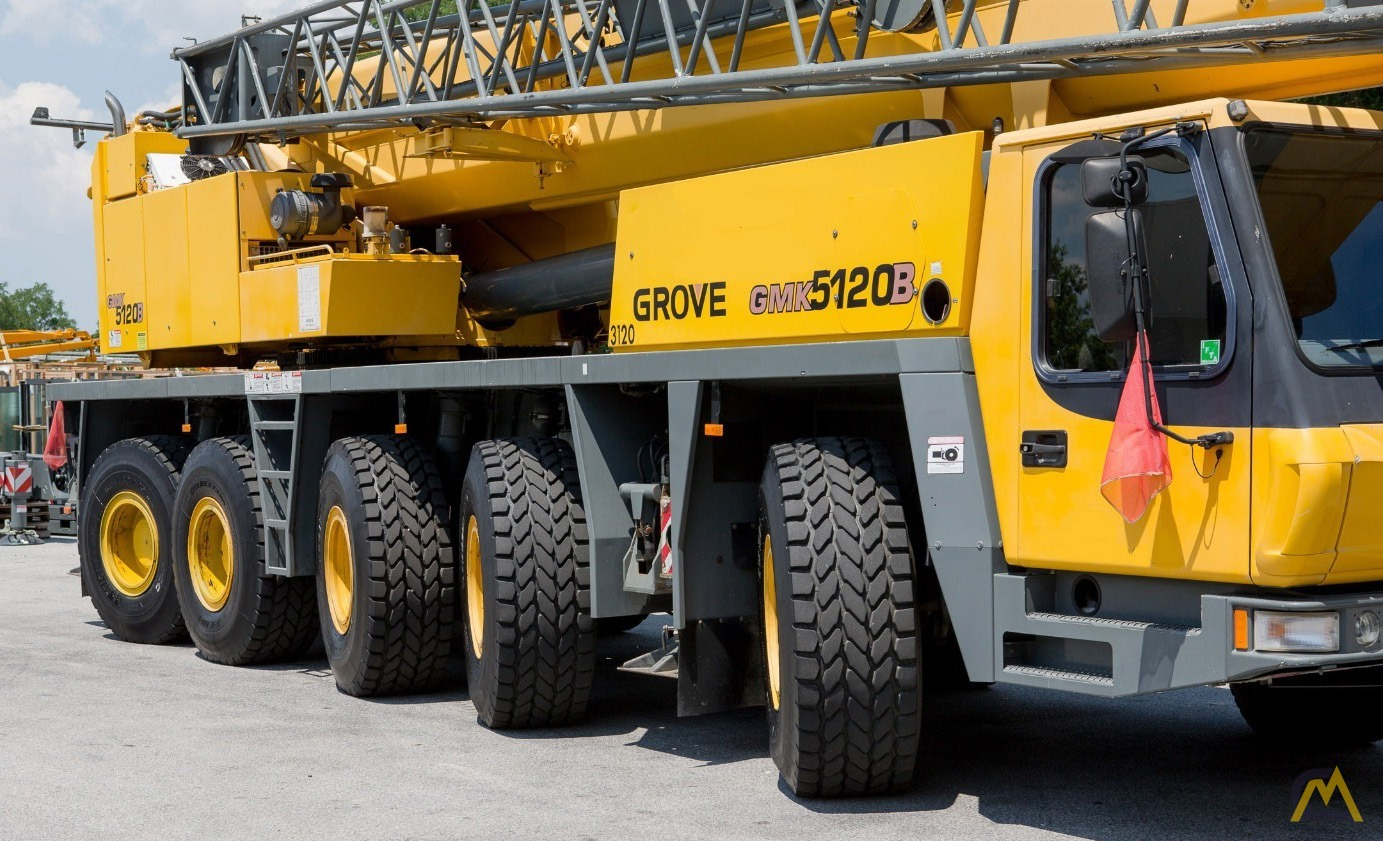 2004 Grove GMK-5120B 120 US ton (100 metric ton) All Terrain Crane with Very Strong Chart For ...