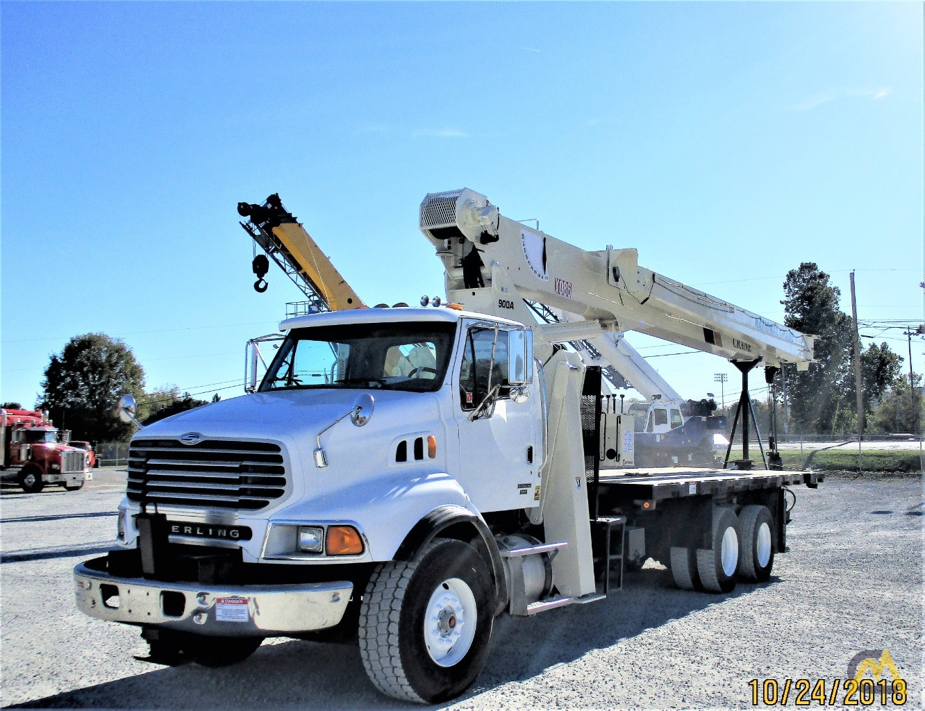 National 9103A 26-ton Boom Truck Crane on Sterling LT9513 3