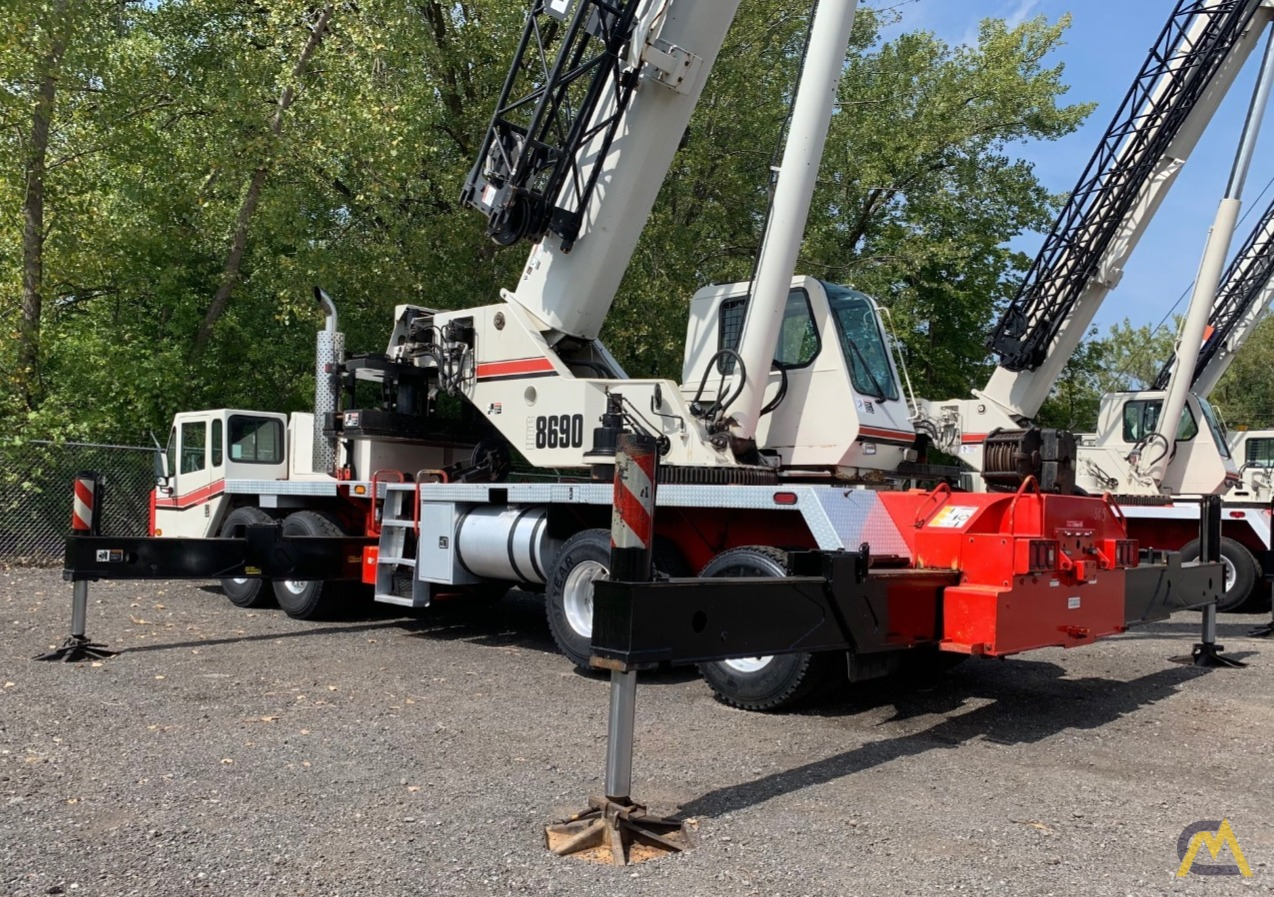 2007 Link-Belt HTC-8690 90-Ton Telescopic Truck Crane w/ Detroit Engine 0