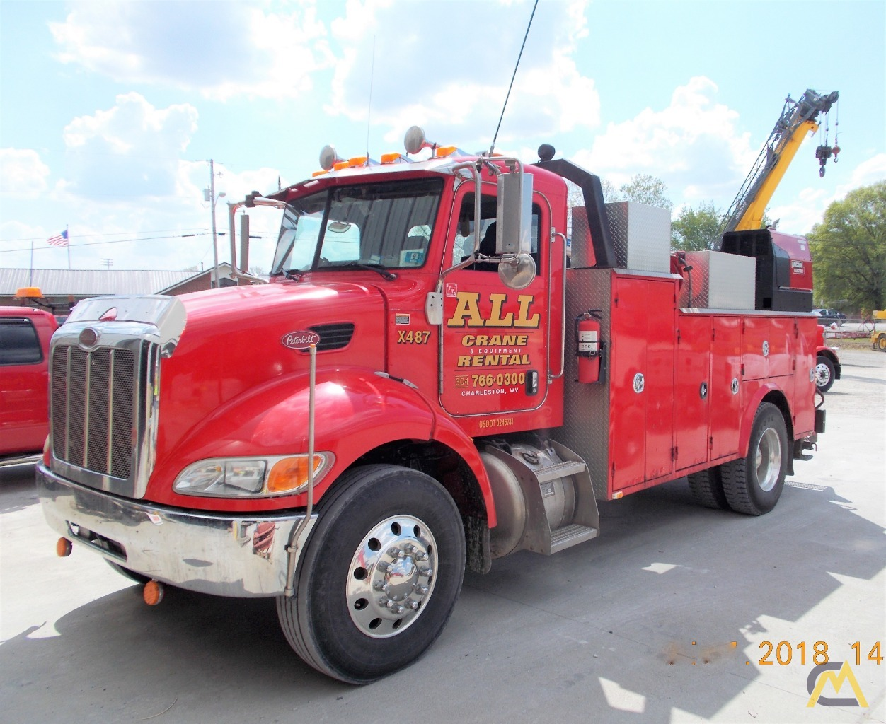 Auto Crane 8406h Service On Peterbilt 335 For Sale Mechanic Truck Hoist Wiring Diagram Together With 2