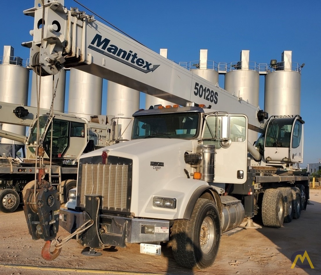 2015 Manitex 50128S 50-Ton Boom Truck Crane Mounted on Kenworth T-800 0