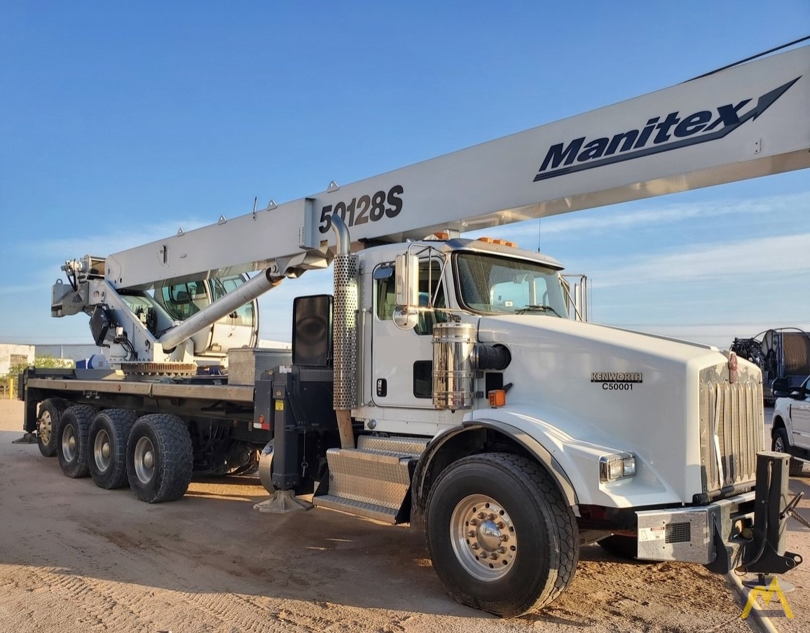 2015 Manitex 50128S 50-Ton Boom Truck Crane Mounted on Kenworth T-800 1