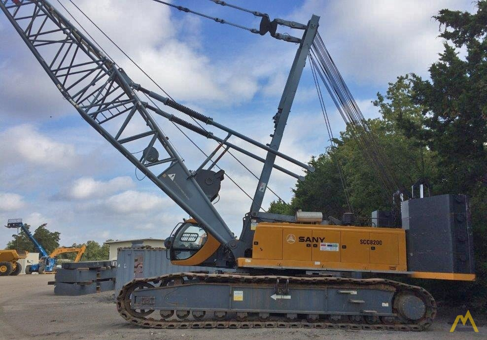 220t Sany SCC8200 Lattice Boom Crawler Crane 11