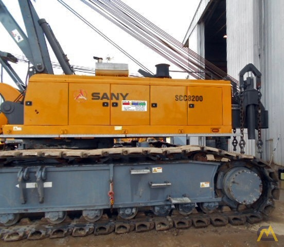 220t Sany SCC8200 Lattice Boom Crawler Crane 5