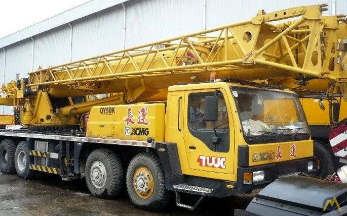 XCMG QY50K 50-ton Telescopic Boom Truck Crane For Sale & Material ...