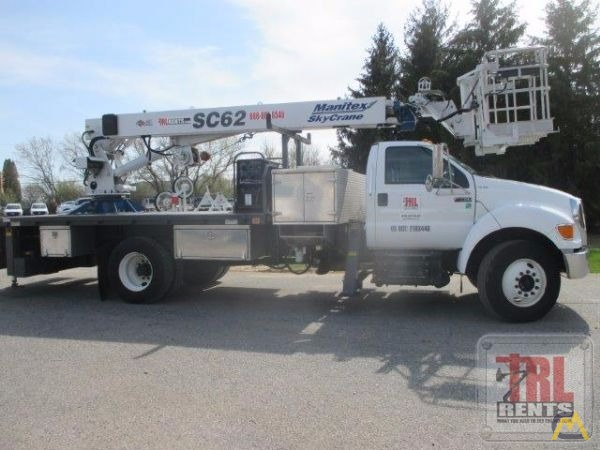 Manitex SC62 3-ton Sign Crane on Ford F-750 2