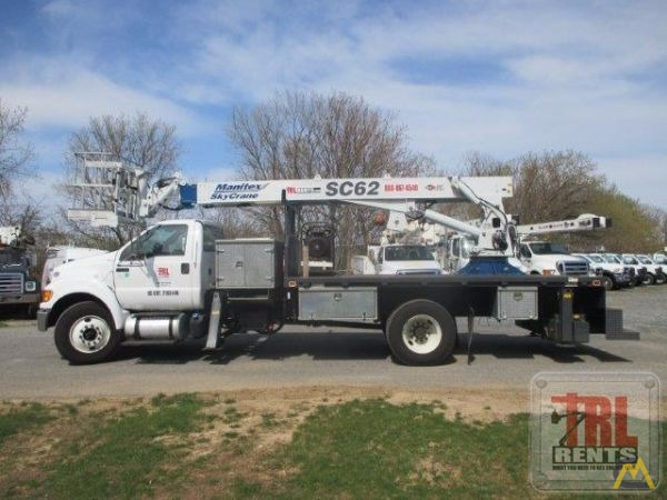 Manitex SC62 3-ton Sign Crane on Ford F-750 6