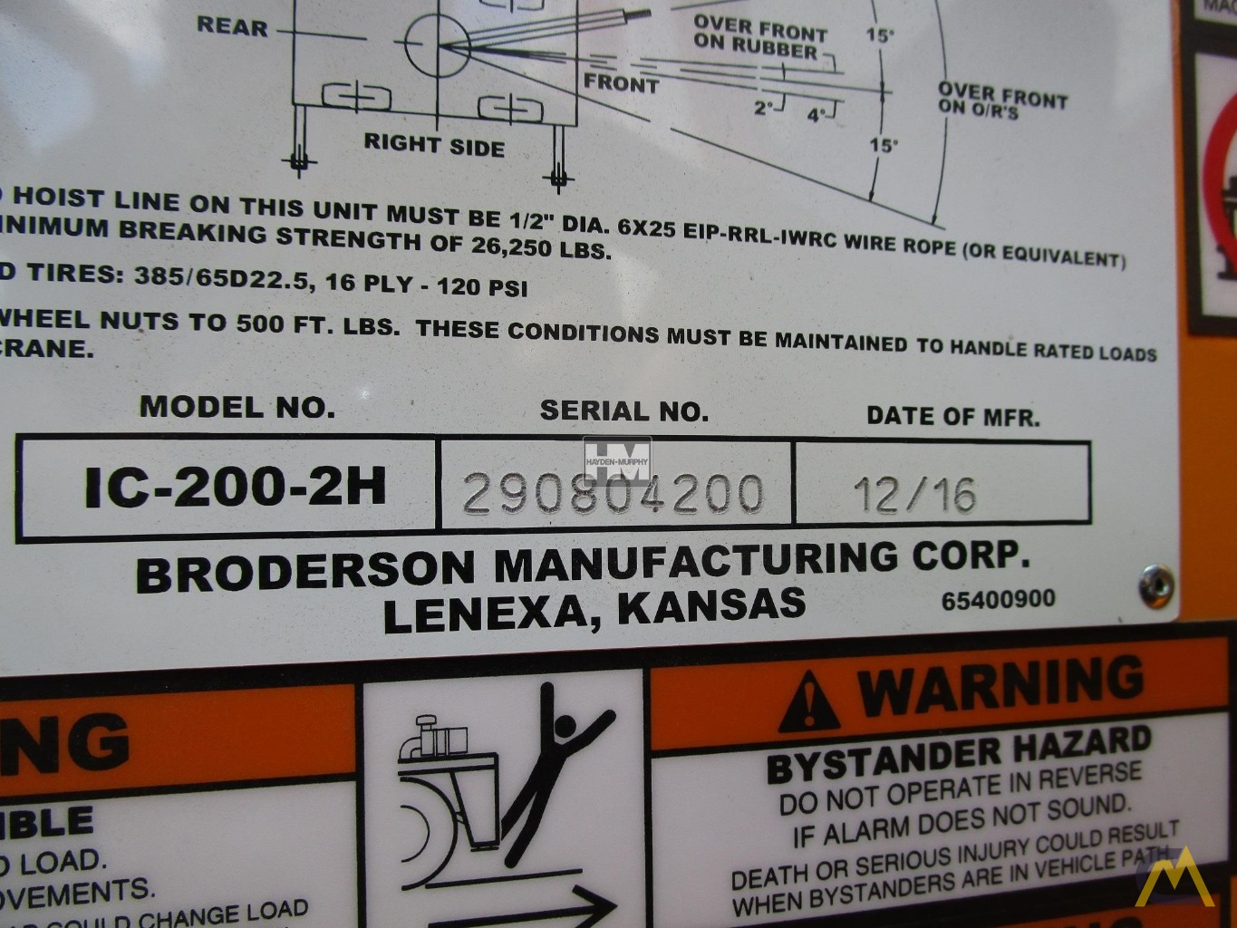 Broderson IC-200-2H 15-ton Industrial Carry Deck Crane 30