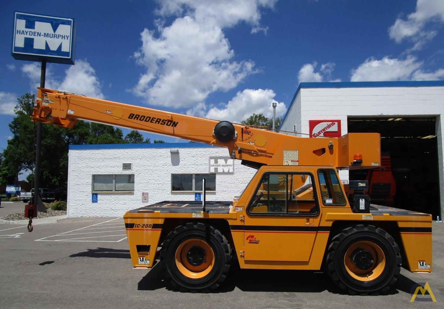 Broderson IC-200-2H 15-ton Industrial Carry Deck Crane 0
