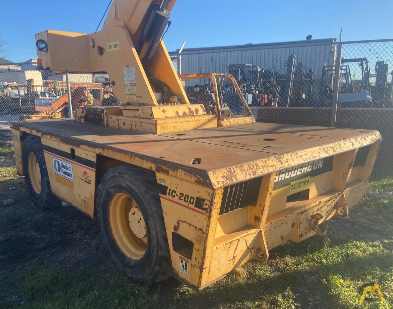 Broderson IC-200-3H 15-ton Carry Deck Industrial Crane Low Hours 0