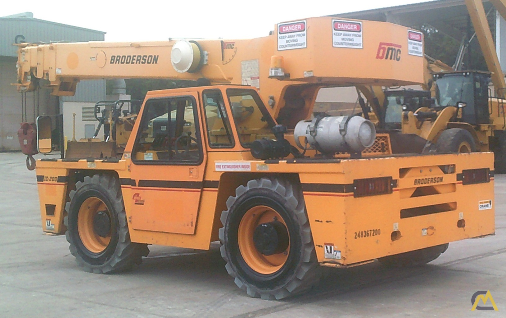Broderson IC-200-3H 15-Ton Industrial Carry Deck Crane 0