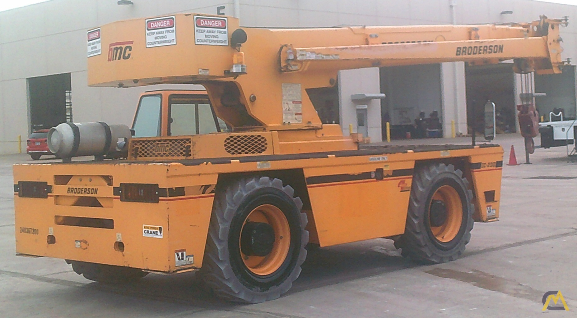 Broderson IC-200-3H 15-Ton Industrial Carry Deck Crane 1