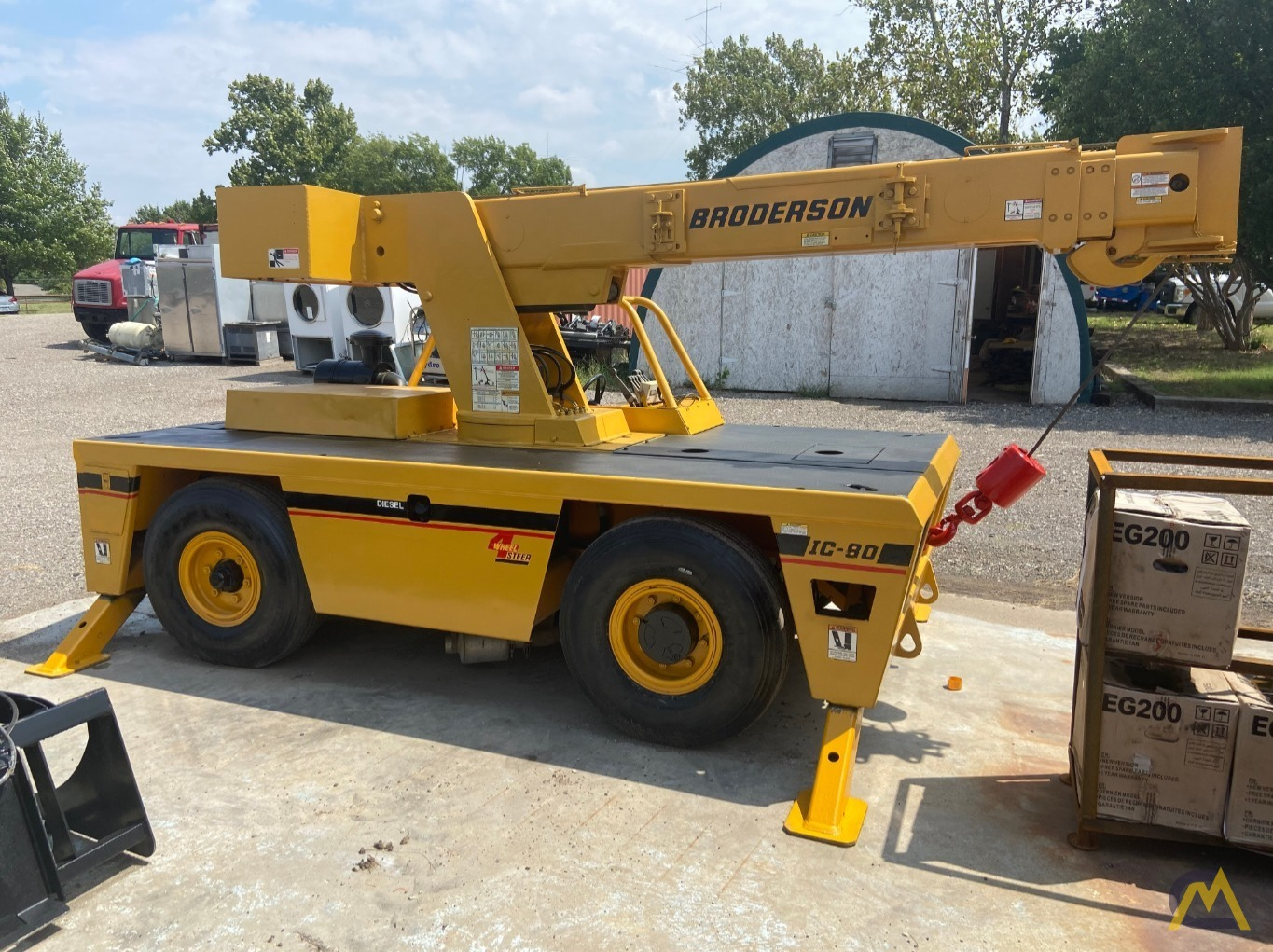 Broderson IC-80-2H 9-ton Carry Deck Industrial Crane 2
