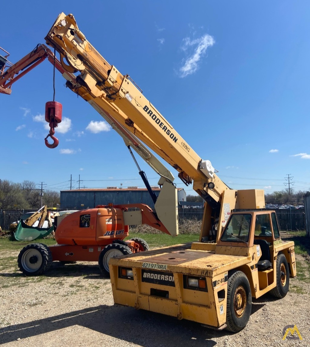 Broderson IC-80-3F  9-ton REFURBISHED Industrial Carry Deck Crane  0