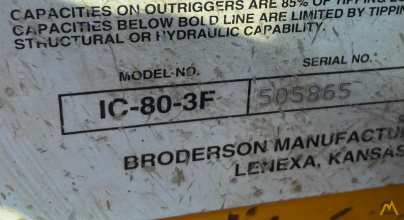 Broderson IC-80-3F  9-ton REFURBISHED Industrial Carry Deck Crane  11