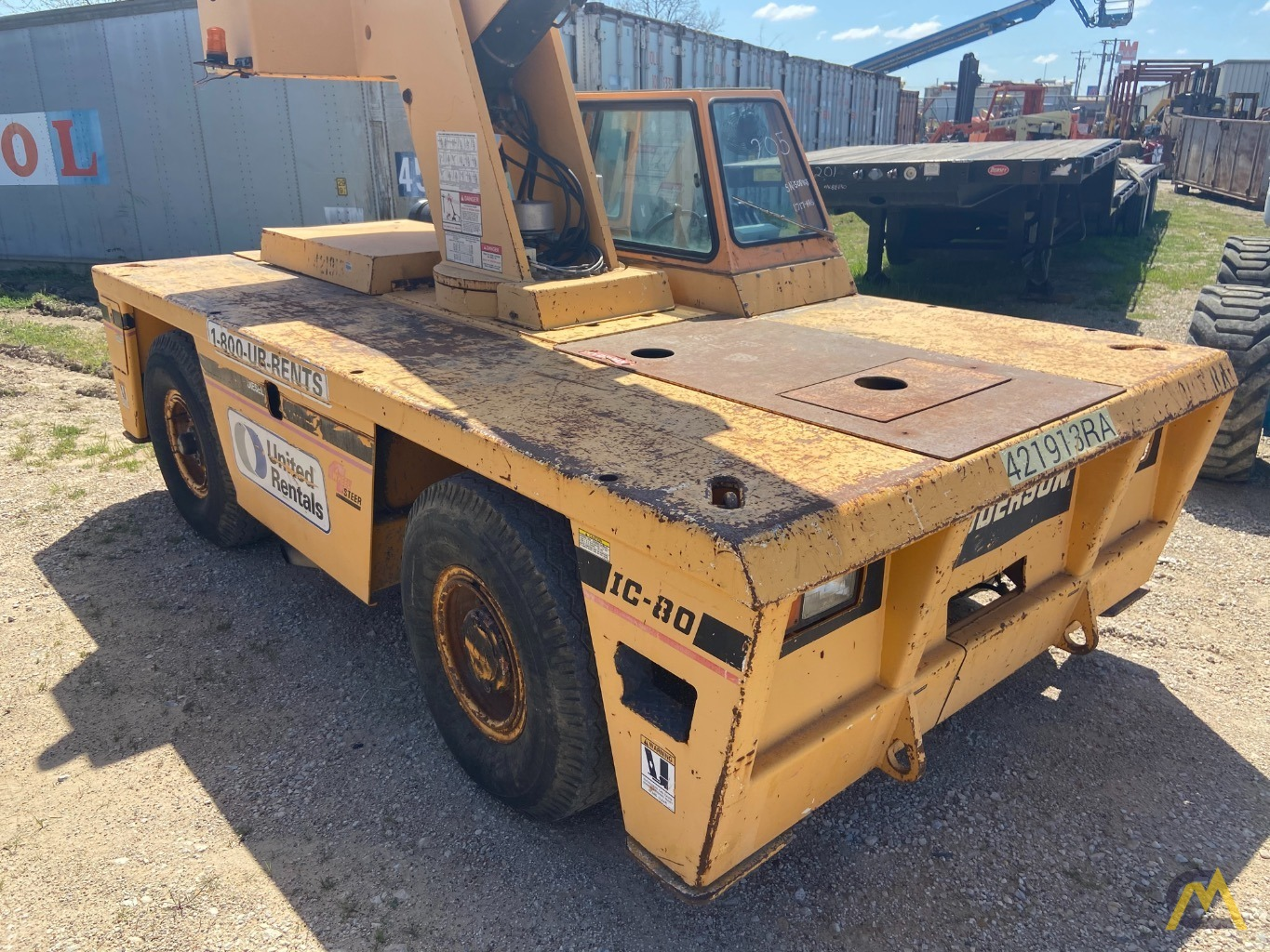 Broderson IC-80-3F  9-ton REFURBISHED Industrial Carry Deck Crane  1