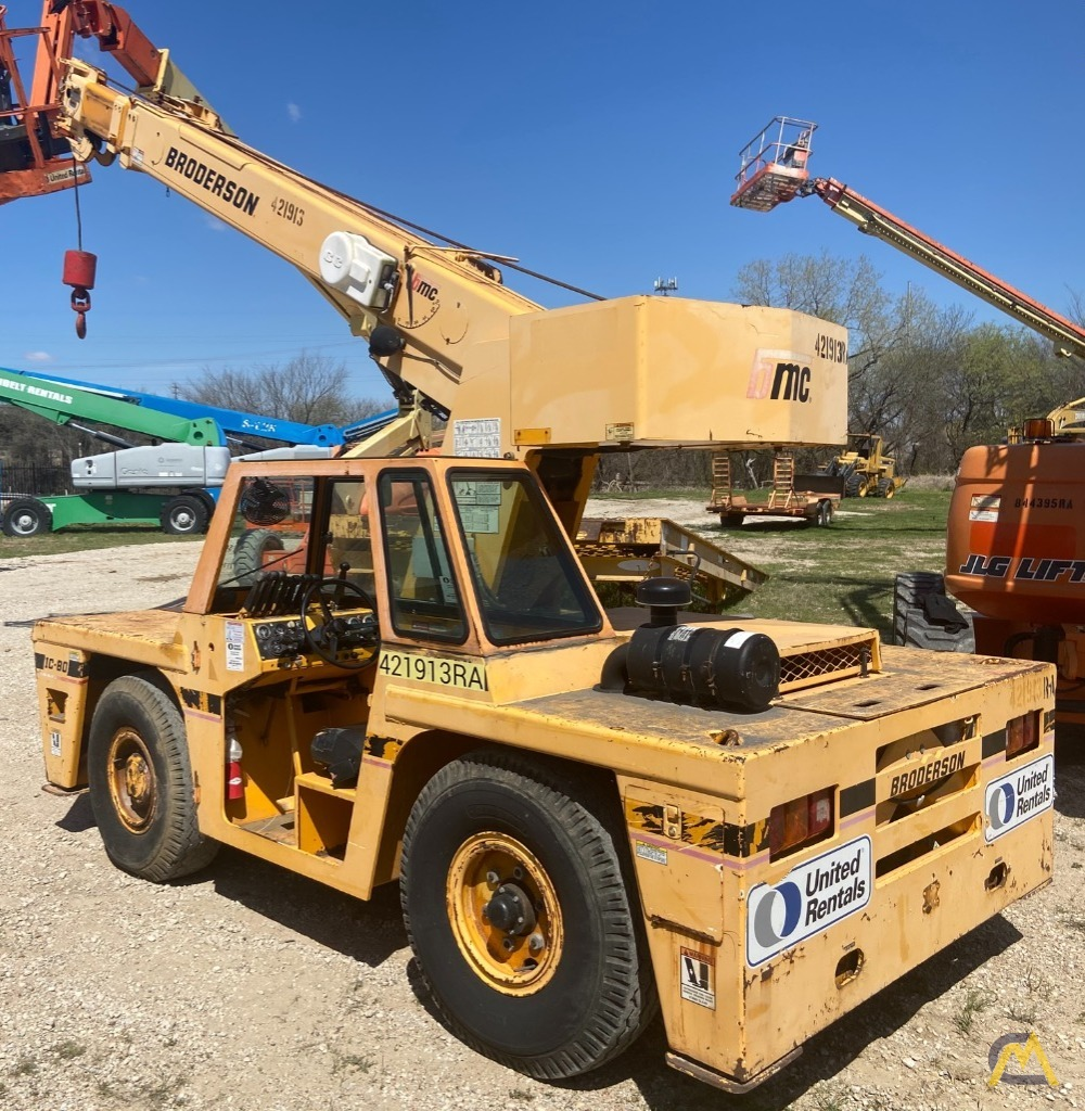 Broderson IC-80-3F  9-ton REFURBISHED Industrial Carry Deck Crane  4