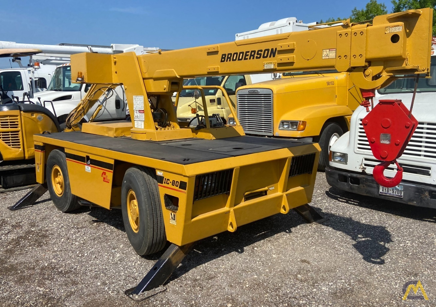 Broderson IC-80-3G 9-Ton Carry Deck Industrial Crane 0