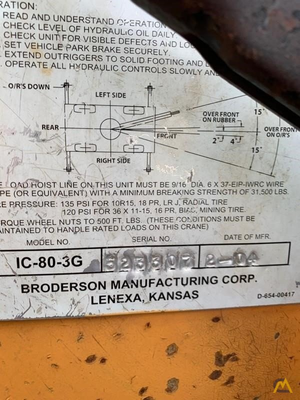 Broderson IC-80-3G 9-Ton Industrial Carry Deck Crane 5
