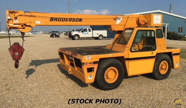 Broderson IC-80-3J 9-Ton Carry Deck Crane 0