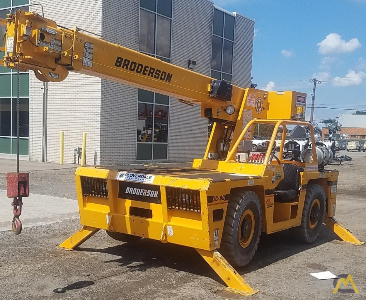 Broderson IC-80-3J 9-Ton Industrial Carry Deck Crane 1