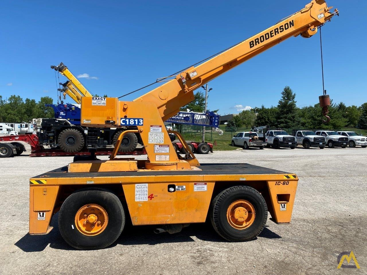 Broderson IC-80-3G 9-Ton Carry Deck Crane 1