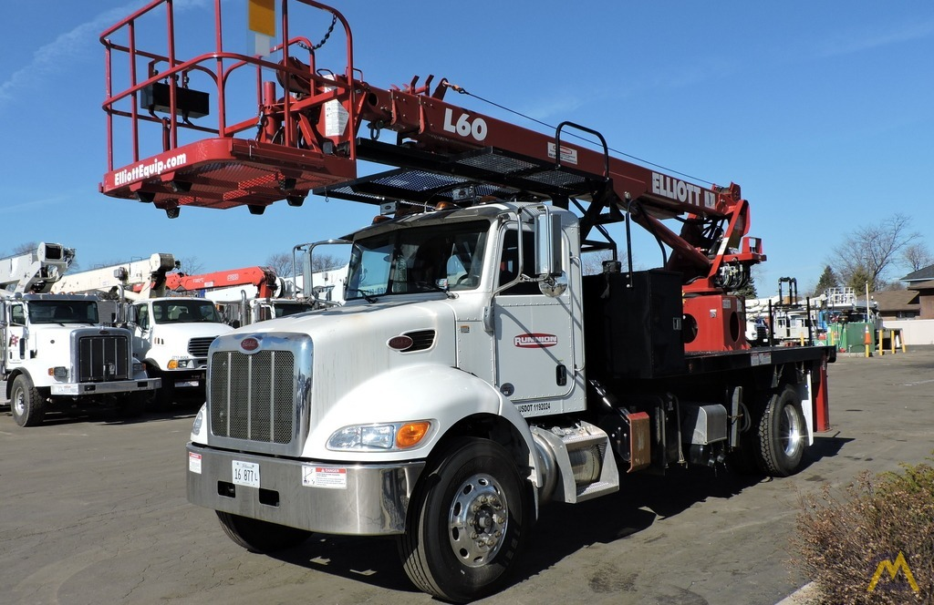 Elliott L60R 62' Aerial Work Platform on Peterbilt 337 2