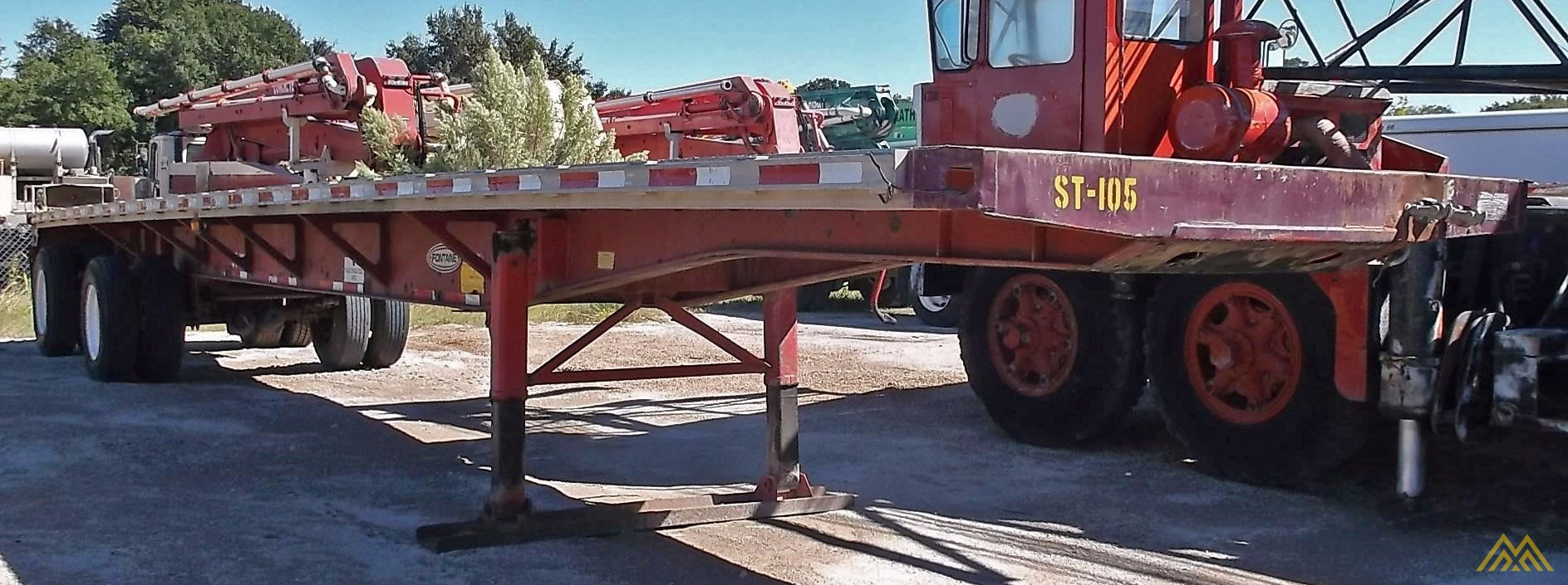 Fontaine LFTW-5-8045 WSK Flat Bed Trailer 1