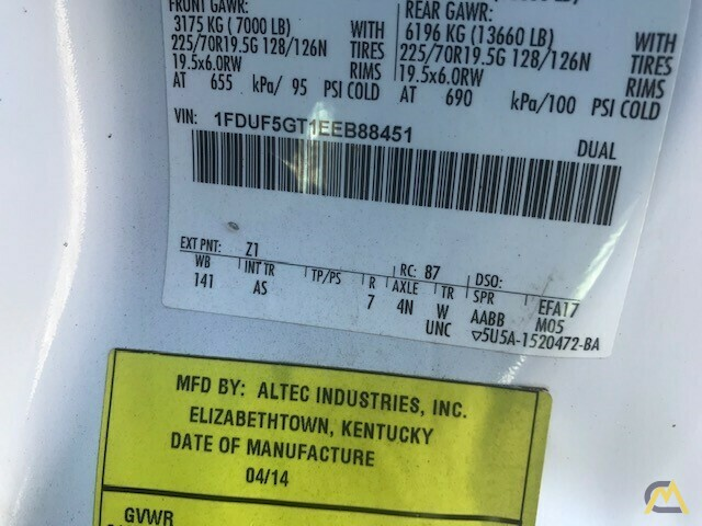 Altec AT37G 42' Articulating Telescopic Boom Aerial Bucket Truck on Ford F550 15