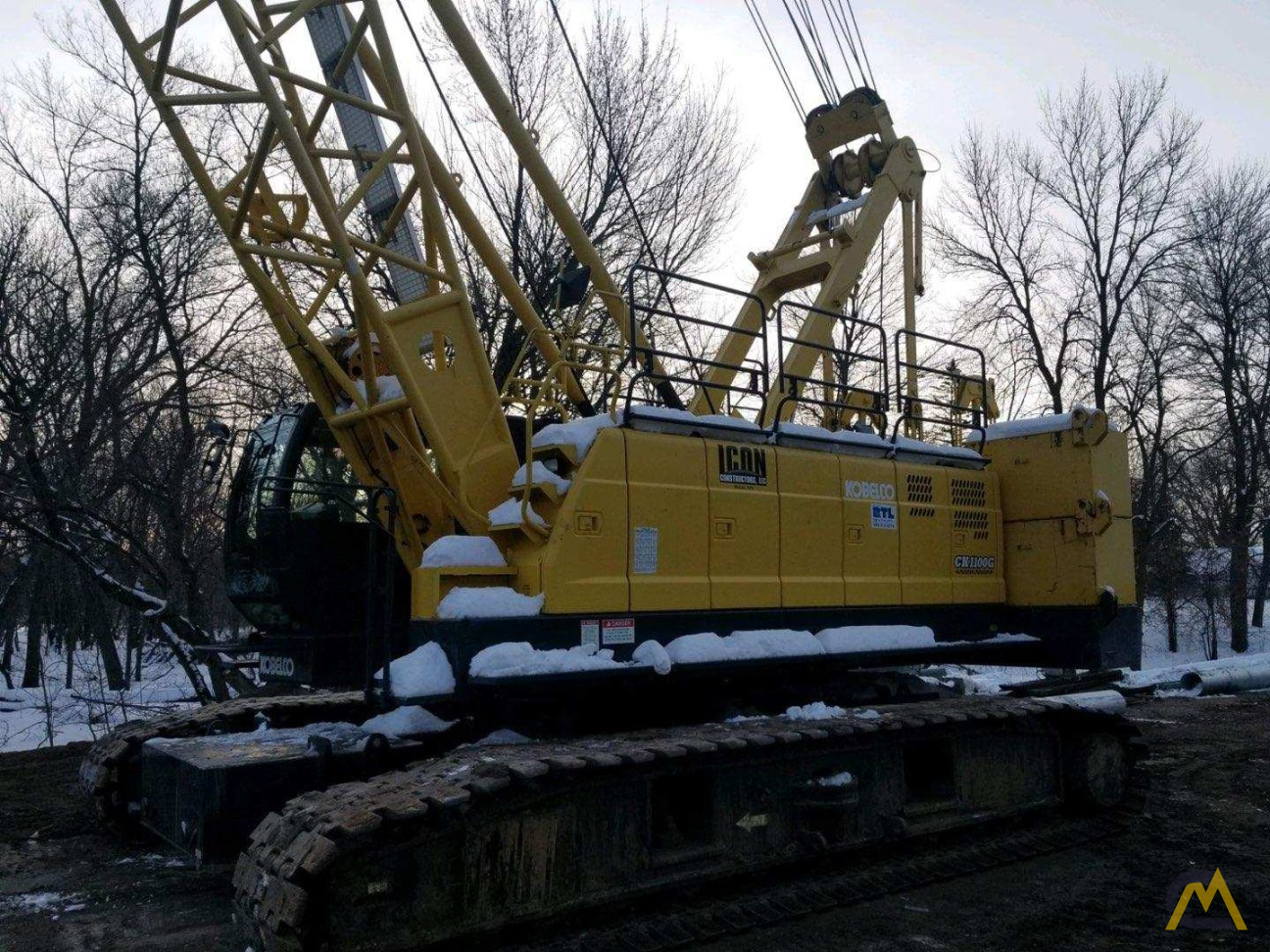 Kobelco CK1100G-2 110-Ton Lattice Boom Crawler Crane  0