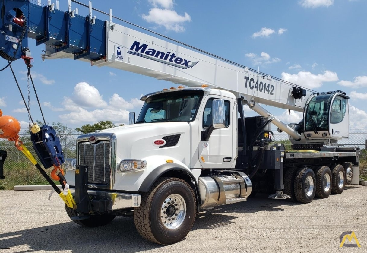 Manitex TC40142 Boom Truck Crane on Petebilt 567 0