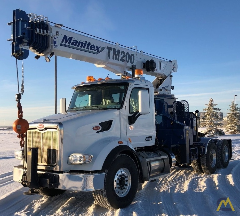 Manitex TM200 20-Ton Boom Truck Crane on Peterbilt 567 1