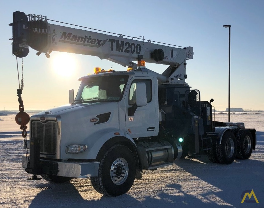 Manitex TM200 20-Ton Boom Truck Crane on Peterbilt 567 2