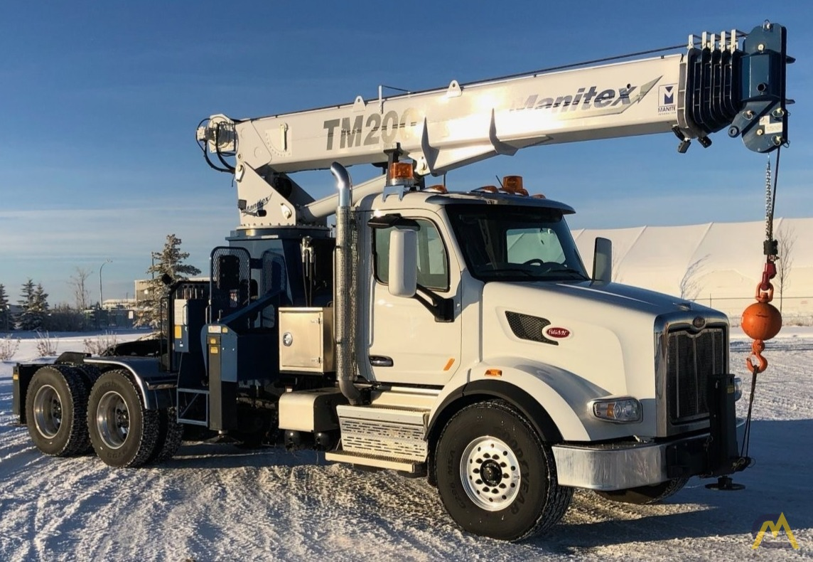 Manitex TM200 20-Ton Boom Truck Crane on Peterbilt 567 3