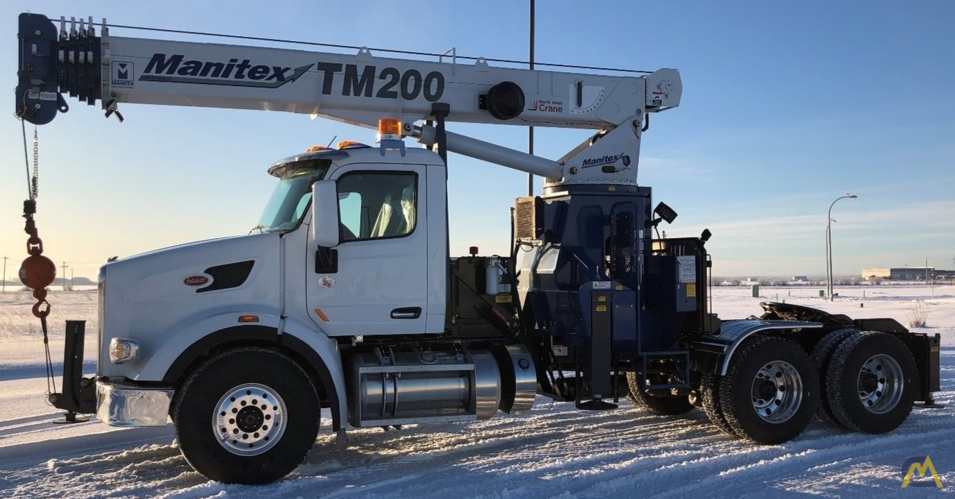 Manitex TM200 20-Ton Boom Truck Crane on Peterbilt 567 6