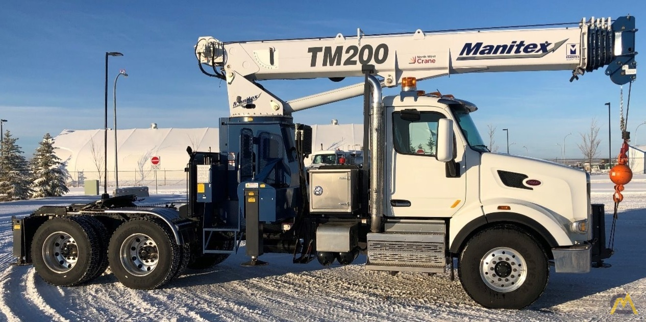 Manitex TM200 20-Ton Boom Truck Crane on Peterbilt 567 5