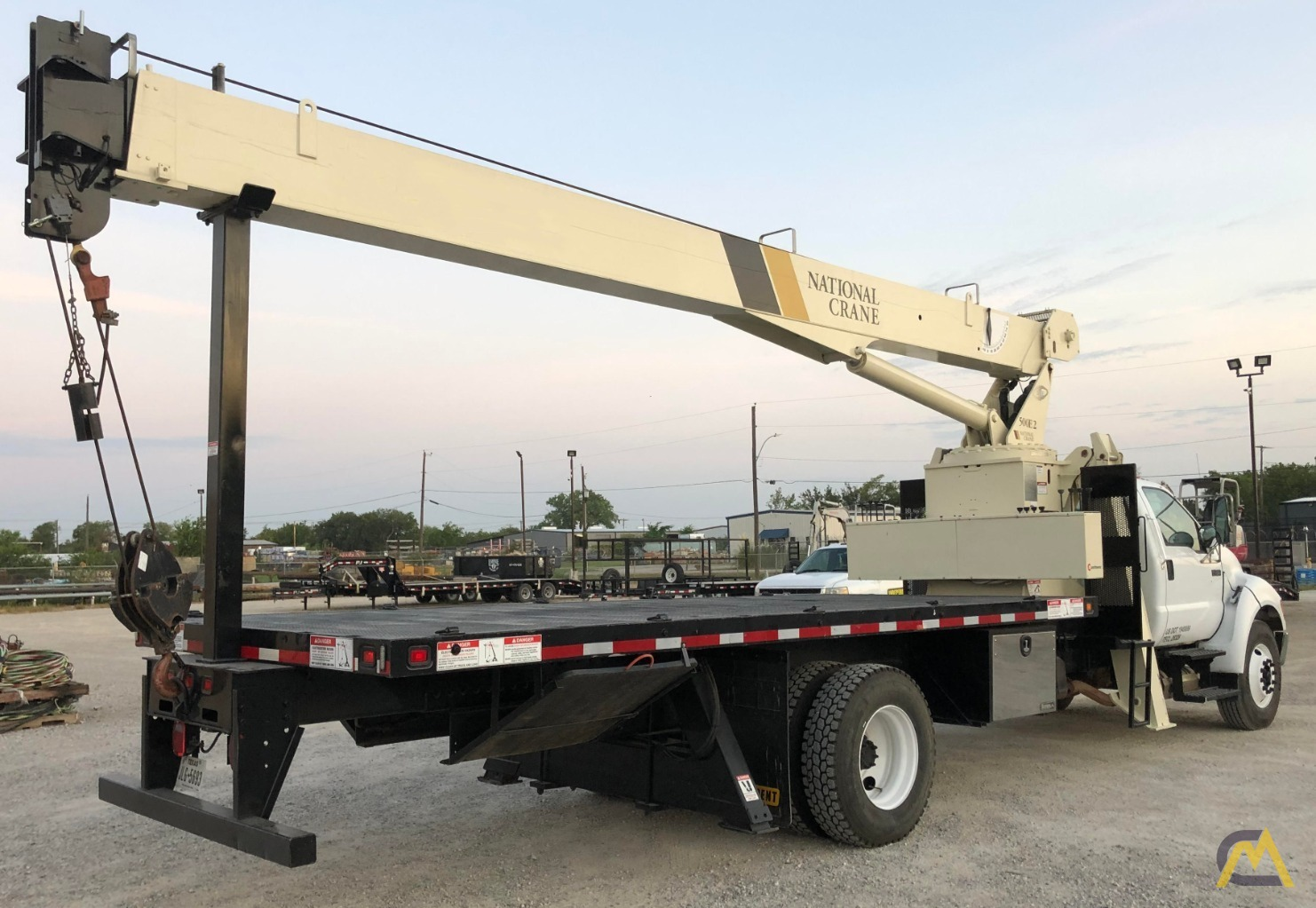 National 500E2 Series 571E2 18-Ton Boom Truck Crane on Ford F750 XL 1