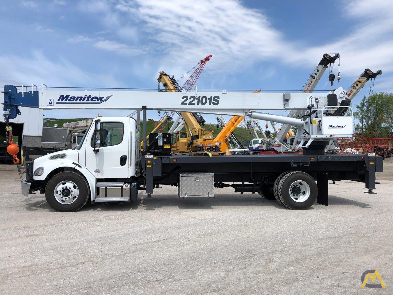 New Manitex 22101S 22-Ton Boom Truck Crane Mounted on NEW