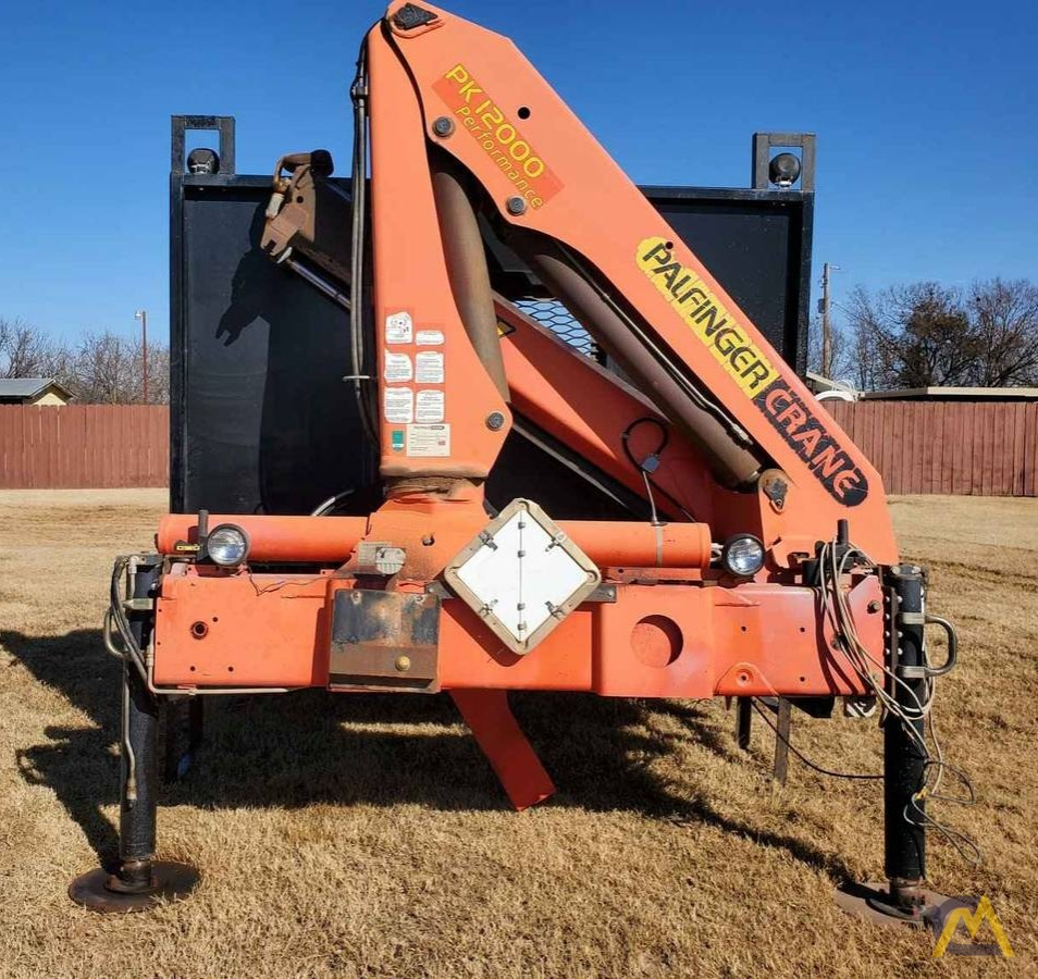 Palfinger PK 12000 7.5-ton Articulating Knuckle Boom Crane on Flatbed Ready to Mount 1