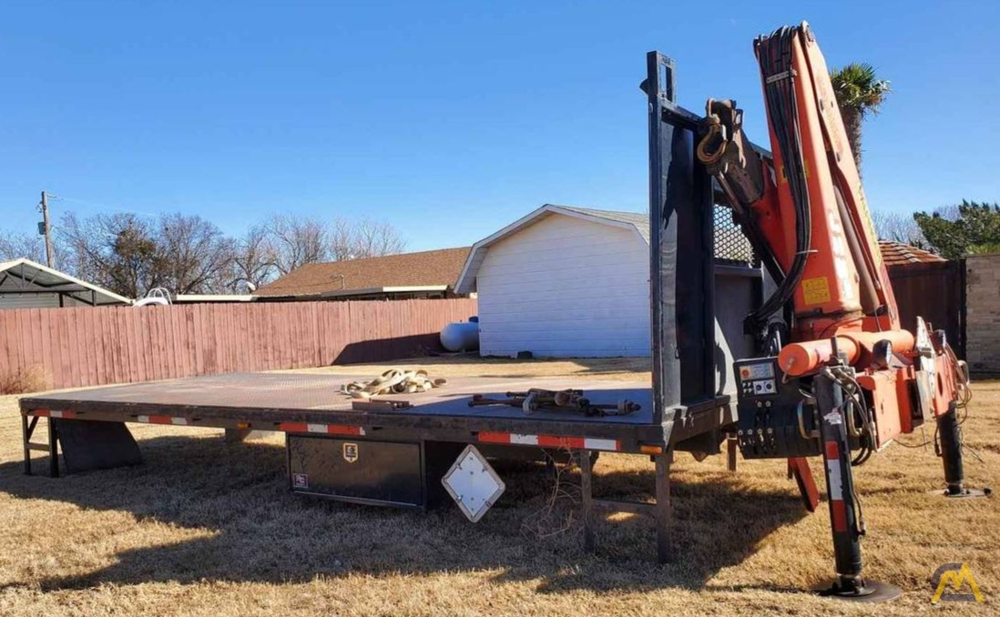 Palfinger PK 12000 7.5-ton Articulating Knuckle Boom Crane on Flatbed Ready to Mount 2
