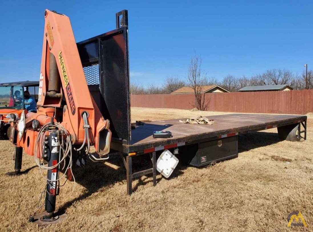 Palfinger PK 12000 7.5-ton Articulating Knuckle Boom Crane on Flatbed Ready to Mount 0