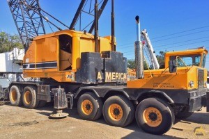 American 7510 100-ton Lattice Boom Truck Crane