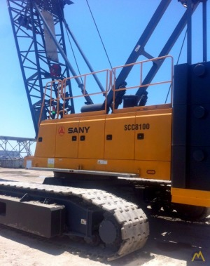 100t Sany SCC8100 Lattice Boom Crawler Crane