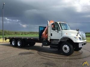 12,300 lbs Palfinger PK 10000 A Performance on International 7600 Flatbed
