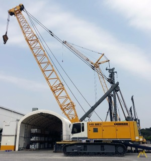 120t Liebherr HS 883 HD Duty Cycle Crawler Crane