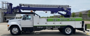 1996 Skyhoist SX57 Sign Crane