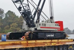 1999 Link-Belt LS-248H II 200-Ton Lattice Boom Crawler Crane & Barge